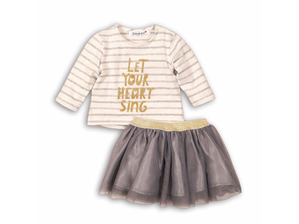 Dívčí set , tričko a sukně TUTU Baby holka
