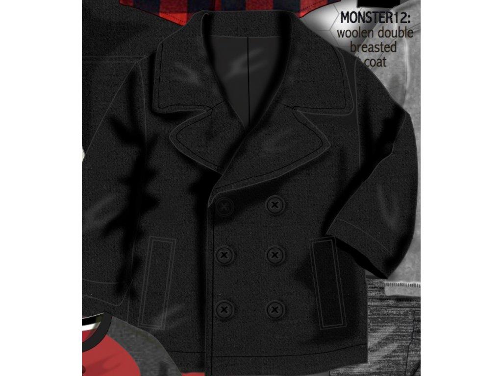Kabát chlapecký vlněný Baby černá