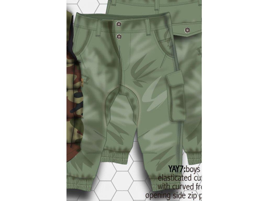 Kalhoty chlapecké kapsové Kids zelená