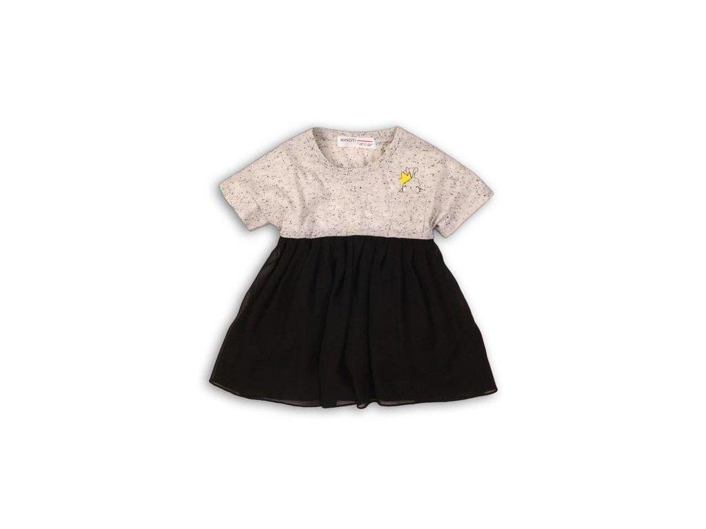 Šaty dívčí s krátkým rukávem Kids černá