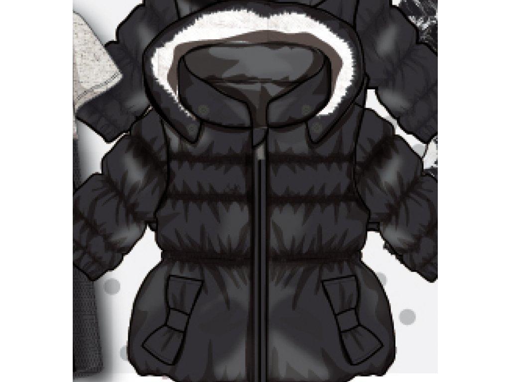 Bunda dívčí zimní Puffa Baby černá