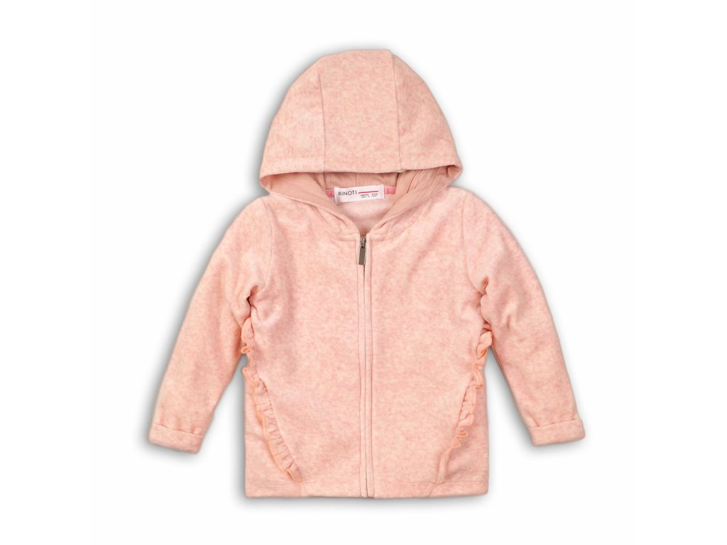 Mikina dívčí s kapucí celopropínací Kids růžová
