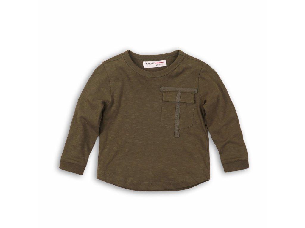 Tričko chlapecké s dlouhým rukávem Kids khaki