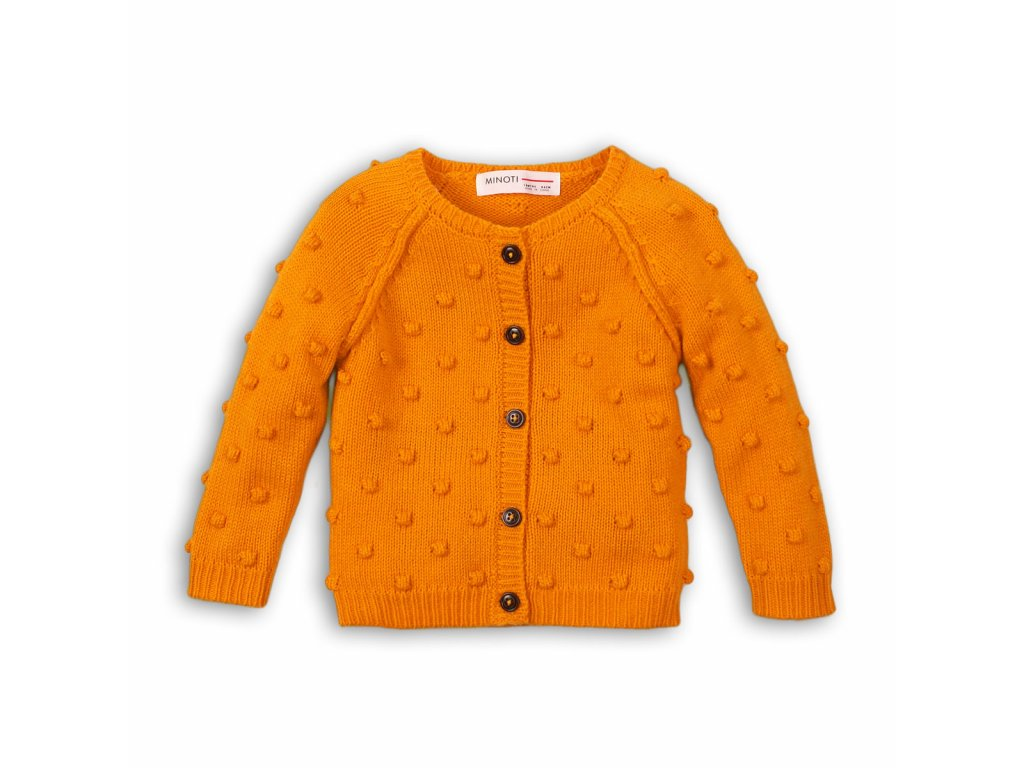 Svetr dívčí celopropínací Kids oranžová