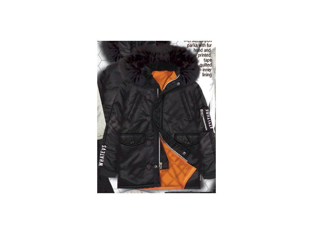 Kabát chlapecký Parka Junior černá