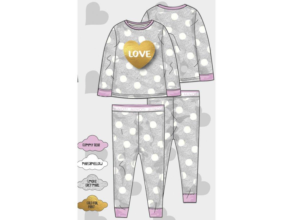 Pyžamo dívčí Baby šedá