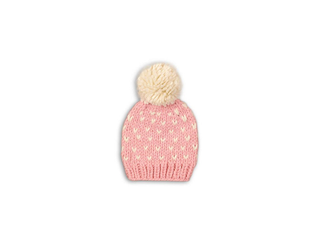 Čepice dívčí Baby růžová