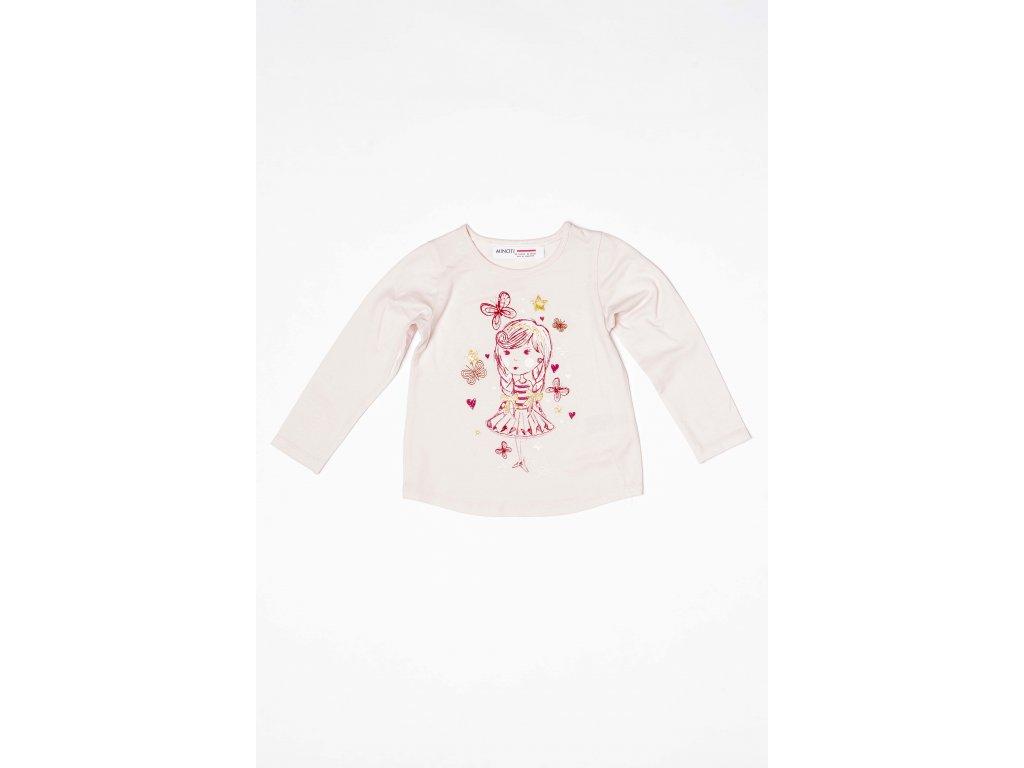 Tričko dívčí s dlouhým rukávem Kids růžová