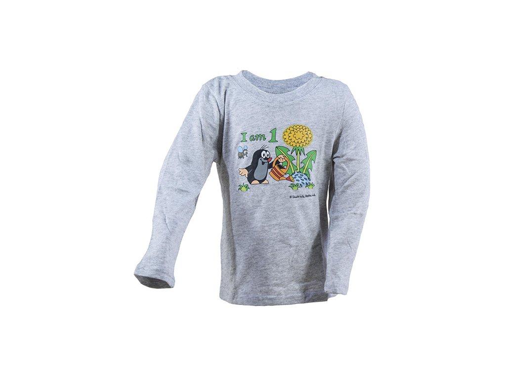 tričko chlapecké KRTEK Iam šedá
