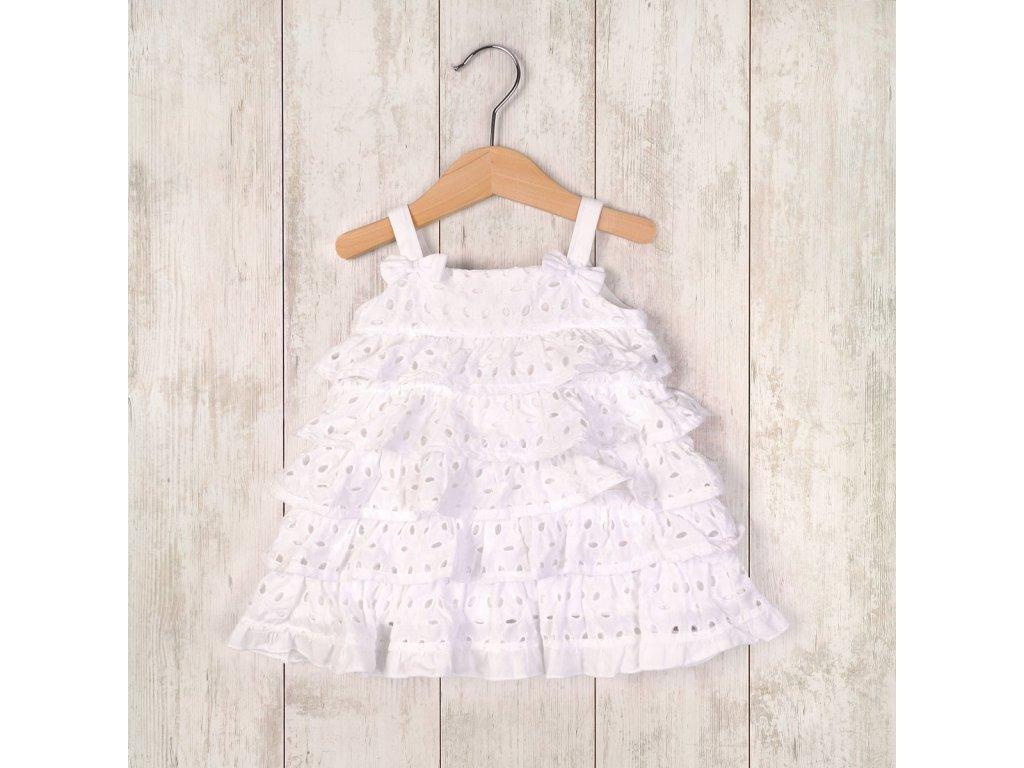 šaty letní a kalhotky Baby bílá