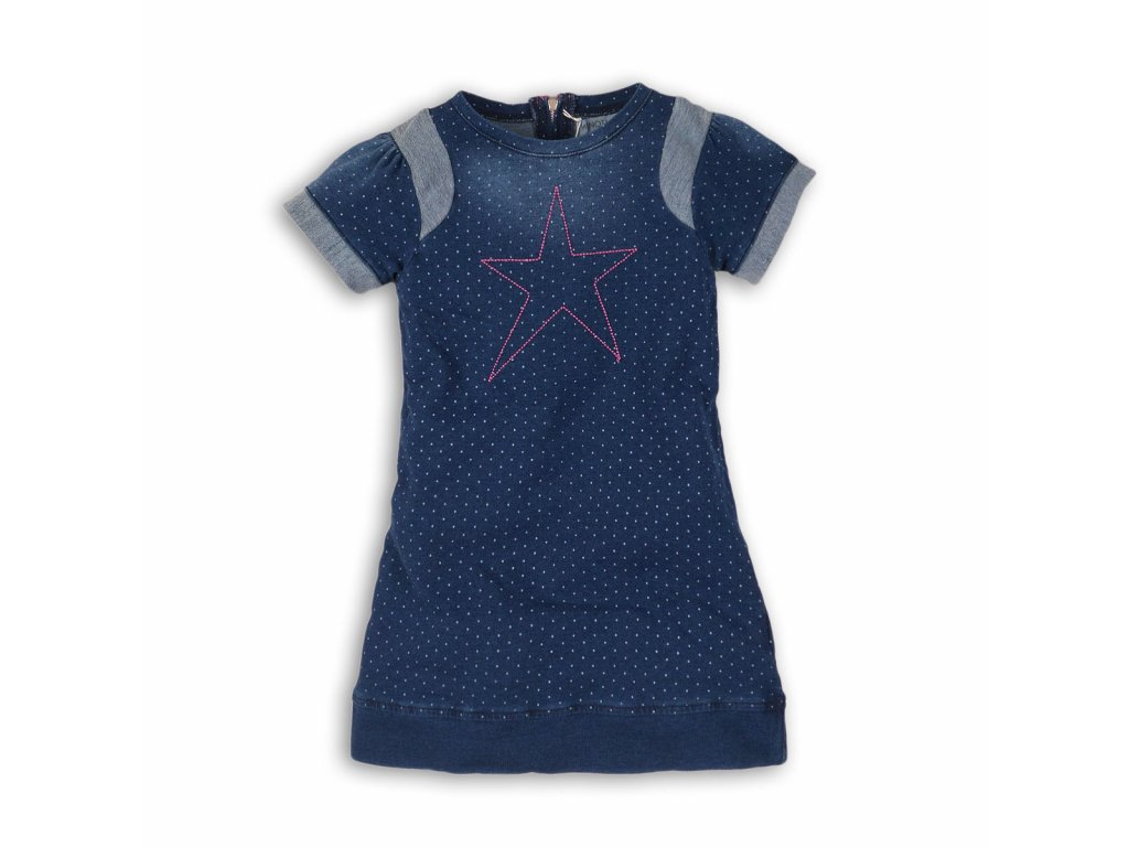 Šaty dívčí džínové Baby modrá