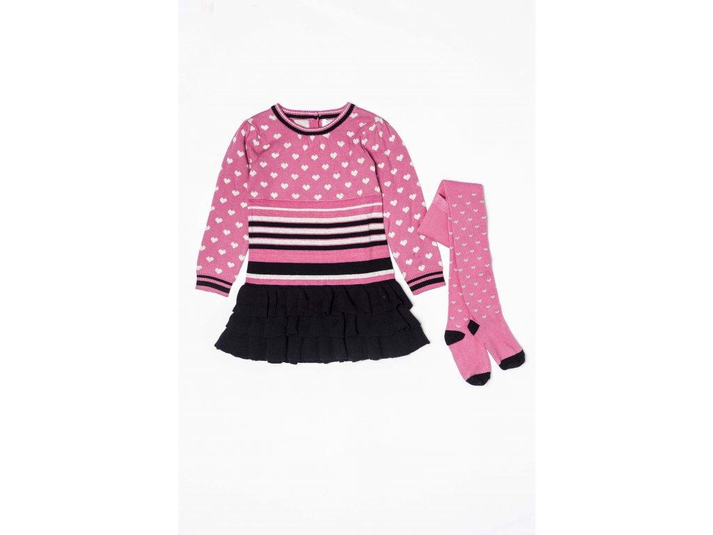 Šaty dívčí úpletové s punčochami Baby holka