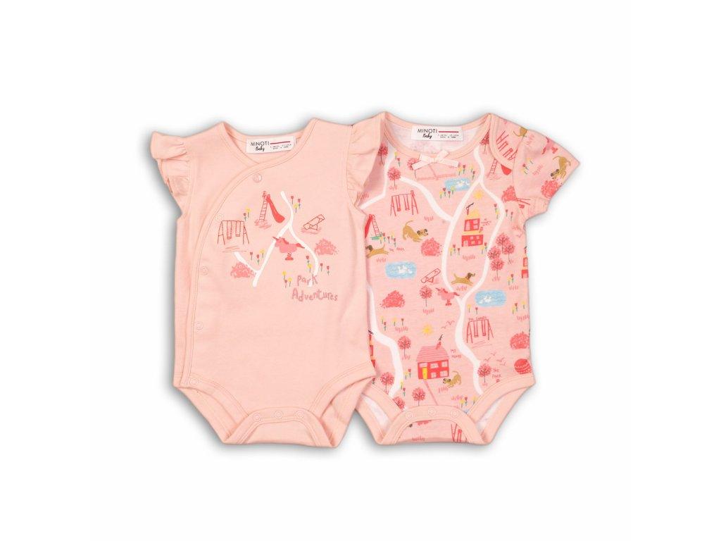 Body kojenecké s krátkým rukávem Baby růžová