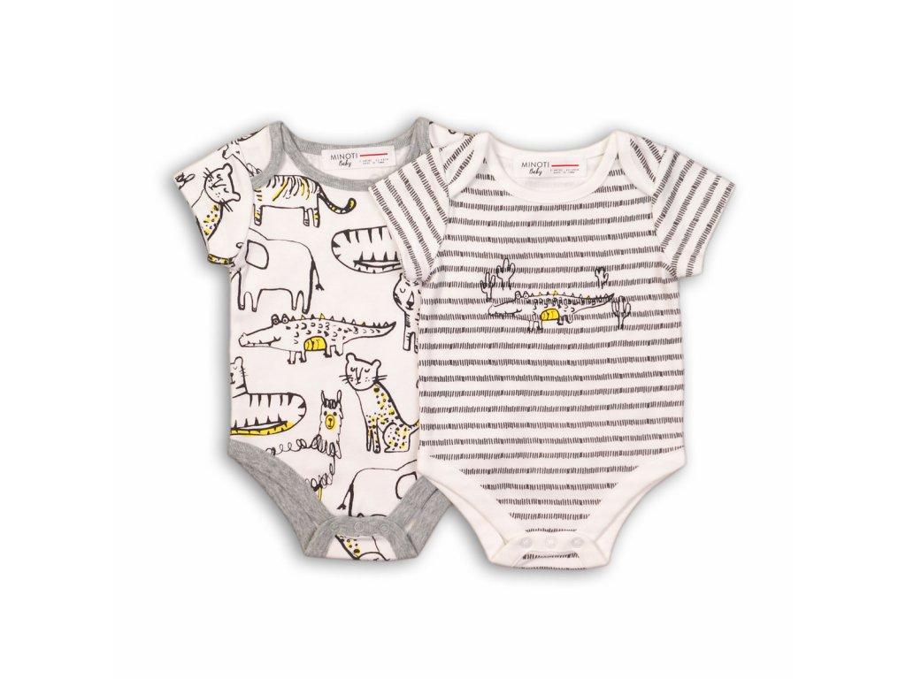 Body kojenecké s krátkým rukávem Baby šedá