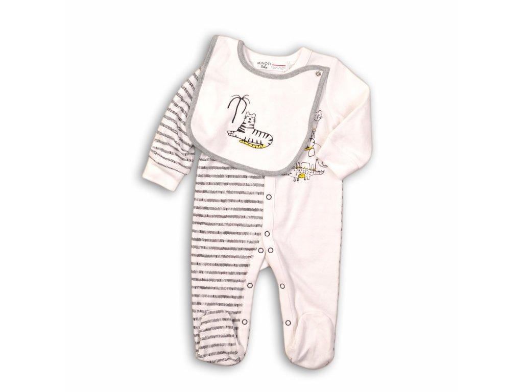 Overal kojenecký bavlněný a bryndák Baby šedá