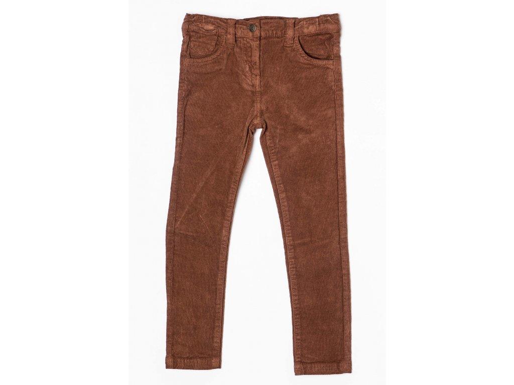 Kalhoty dívčí Kids hnědá