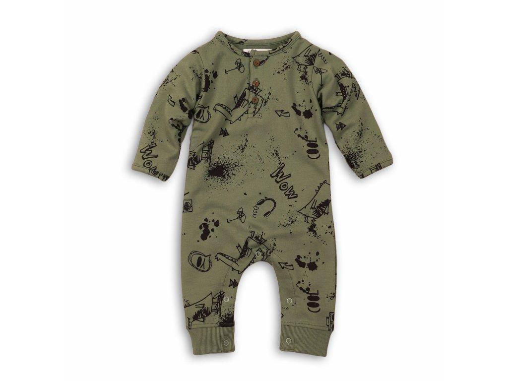 Overal kojenecký bavlněný khaki