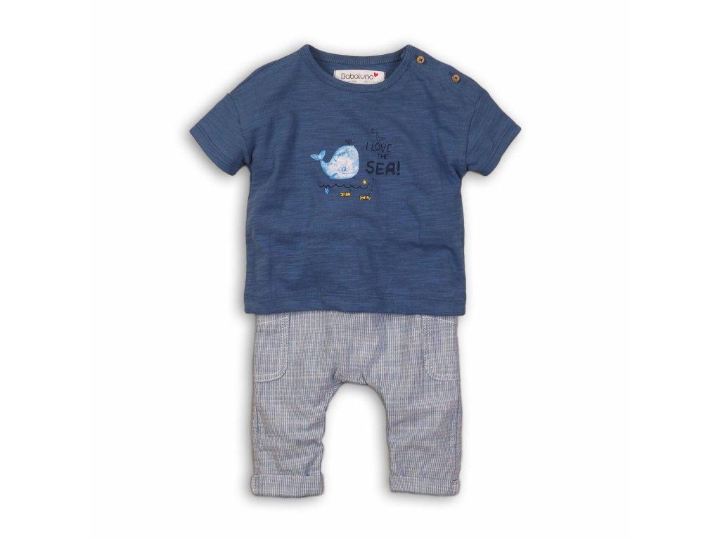 Kojenecký set: tričko a kalhoty Baby modrá