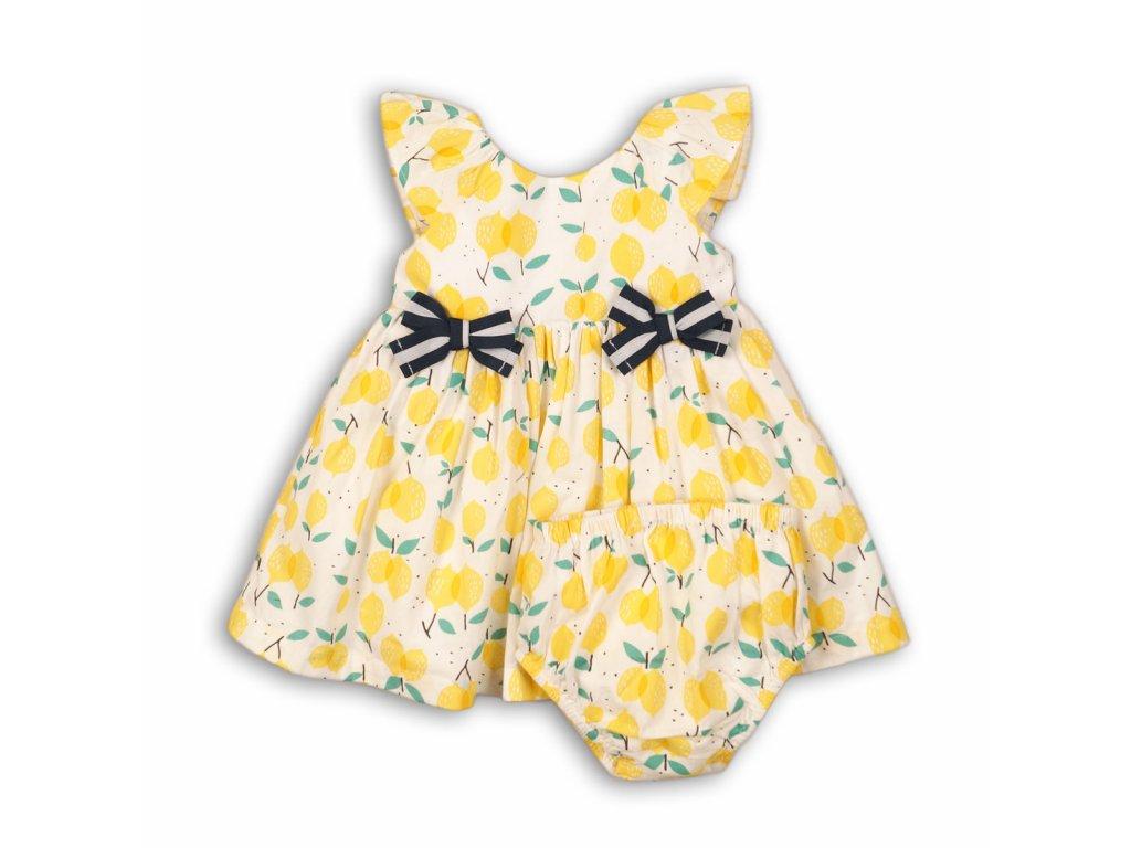 Šaty dívčí s kalhotkami Baby žlutá