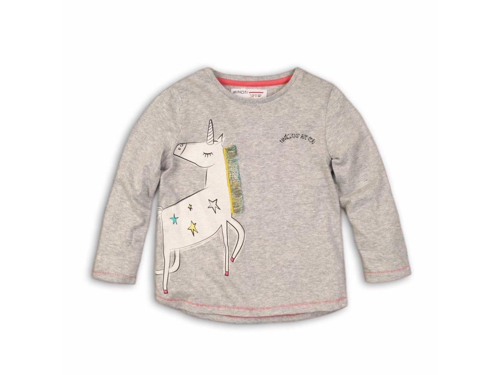 Tričko dívčí s dlouhým rukávem Baby šedá