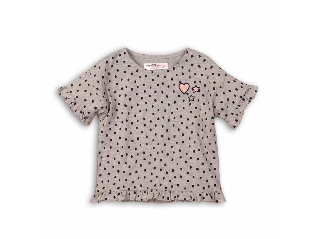 Tričko dívčí s krátkým rukávem Baby šedá