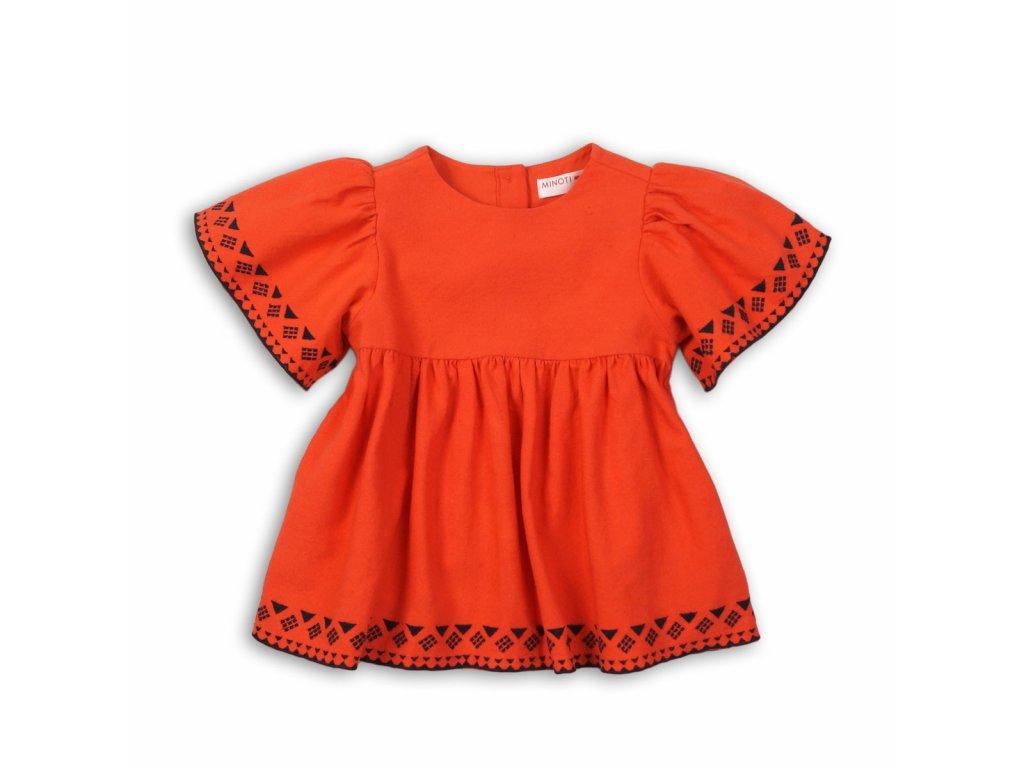 Tunika dívčí bavlněná Baby oranžová