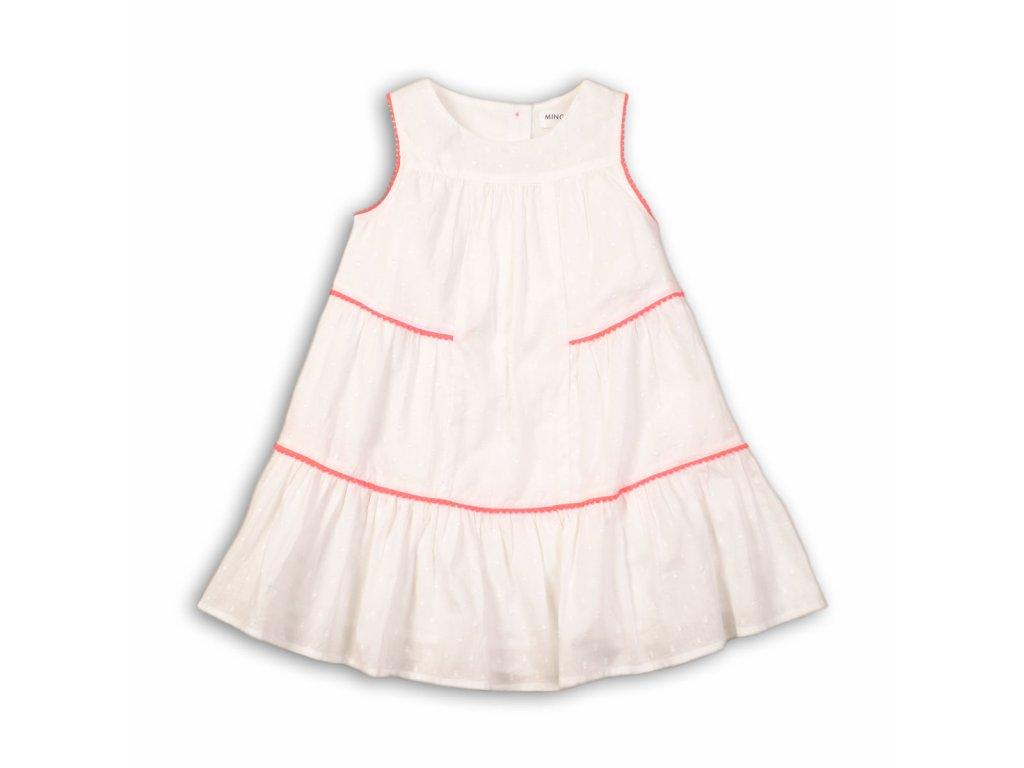 Šaty dívčí bavlněné Baby bílá