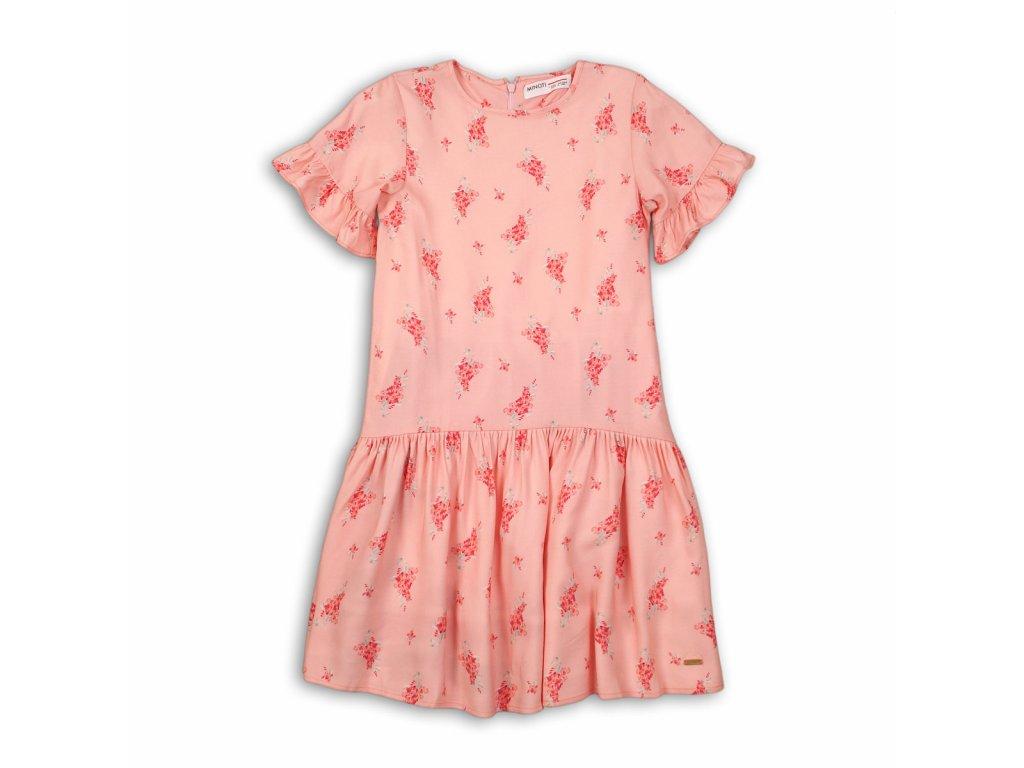 Šaty dívčí bavlněné Junior růžová