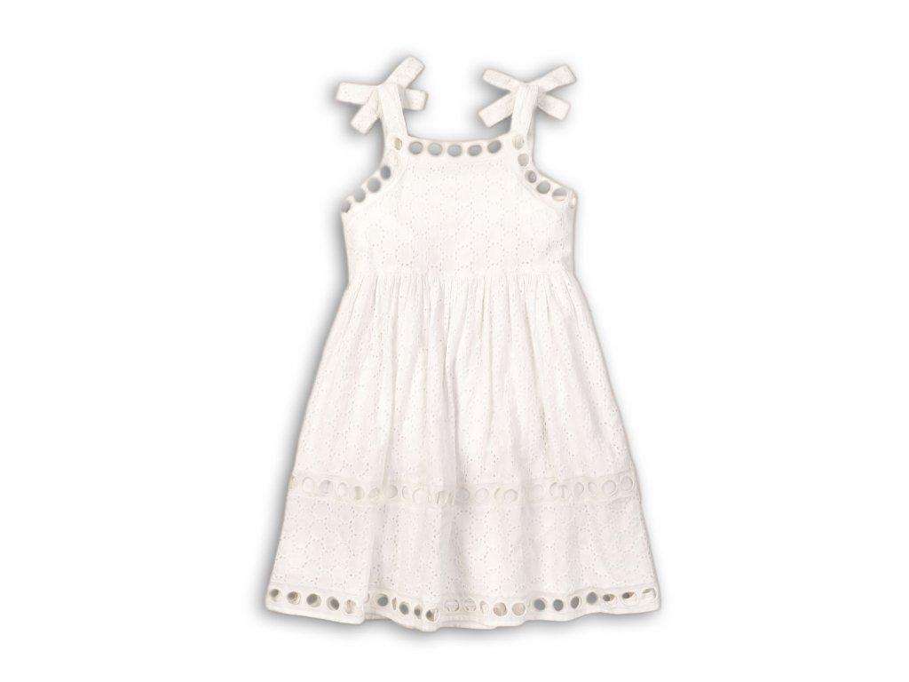 Šaty dívčí bavlněné Junior bílá
