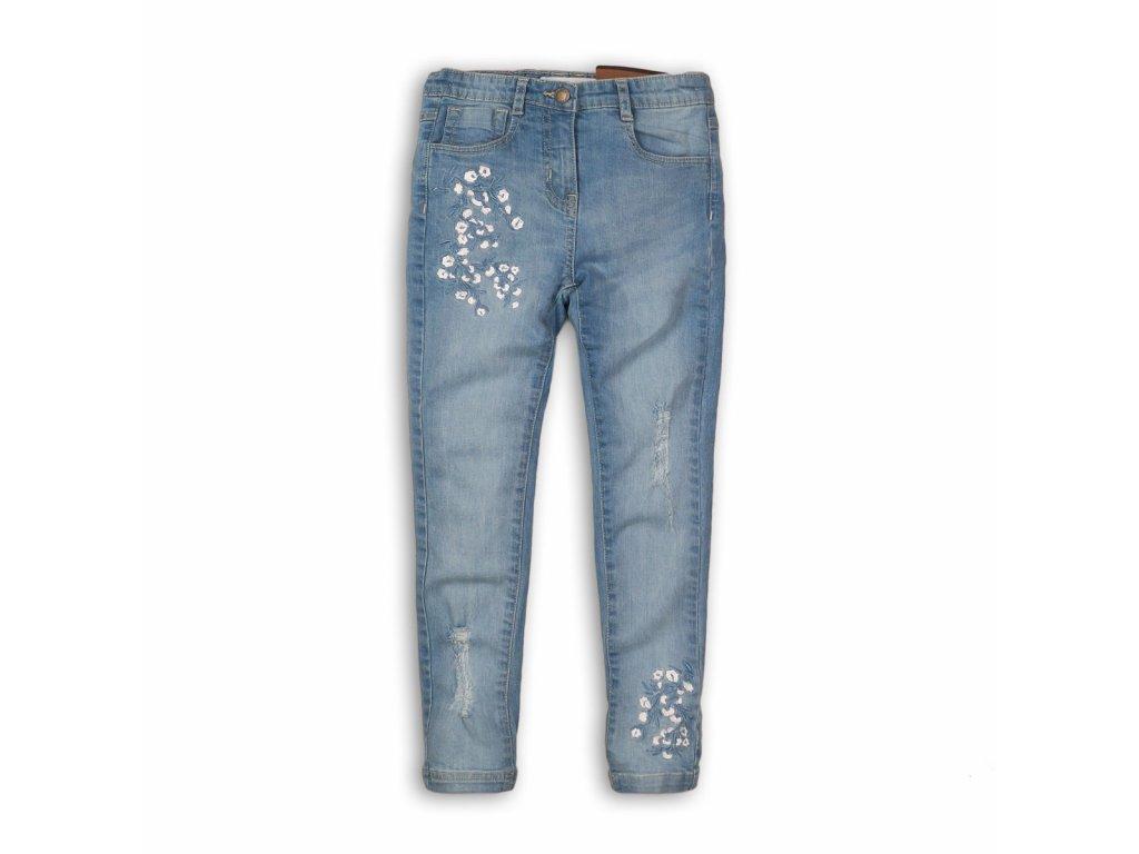 Kalhoty dívčí džínové s elastenem Junior modrá