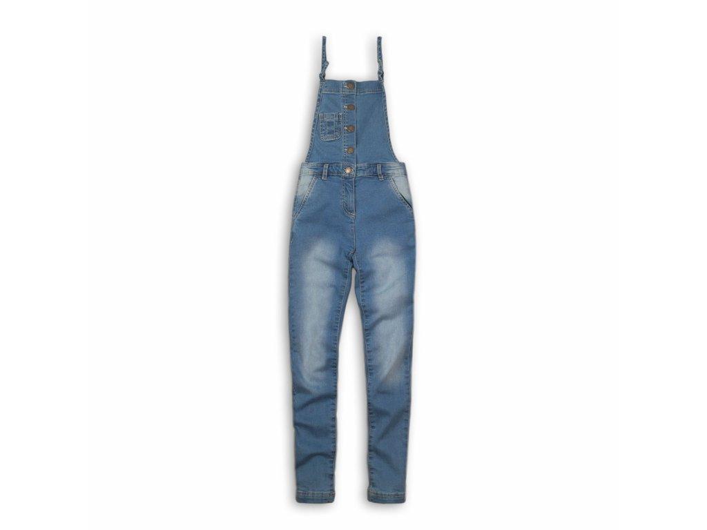 Kalhoty dívčí džínové s laclem Kids modrá