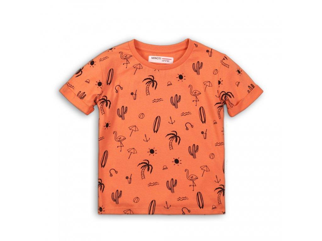 Tričko chlapecké s krátkým rukávem Baby oranžová