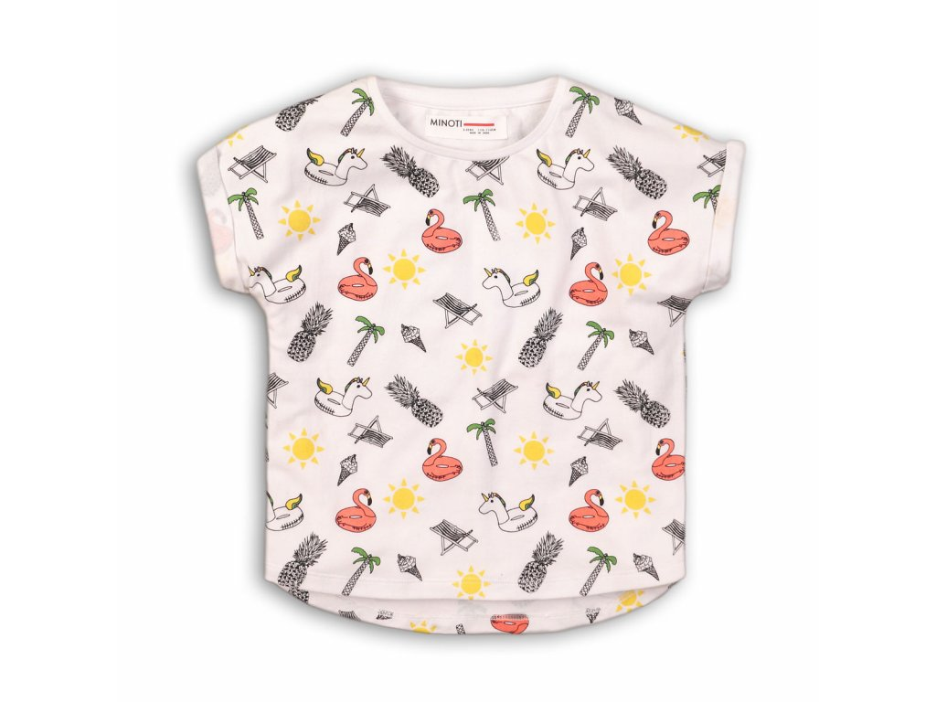 Tričko dívčí s krátkým rukávem Baby bílá