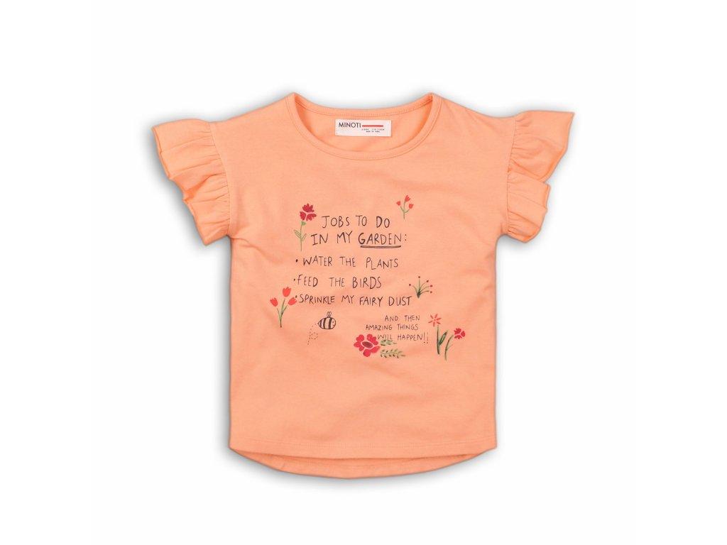 Tričko dívčí s krátkým rukávem Baby oranžová