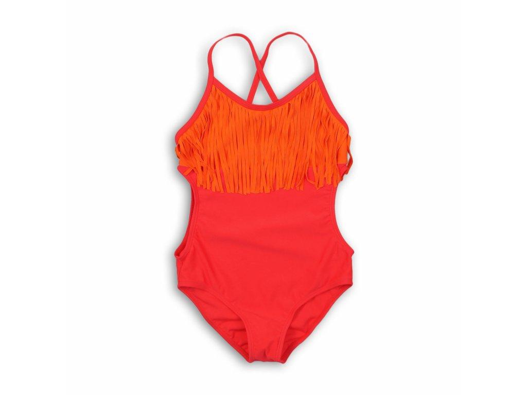 Plavky dívčí jednodílné Junior červená