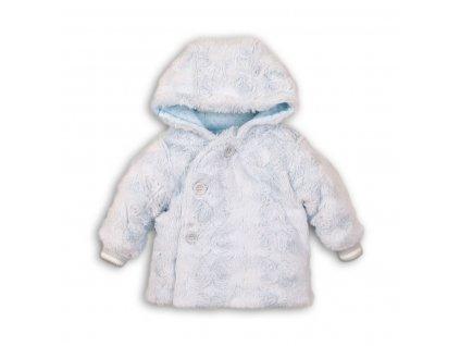Kabátek zimní kojenecký chlupatý Baby světle modrá