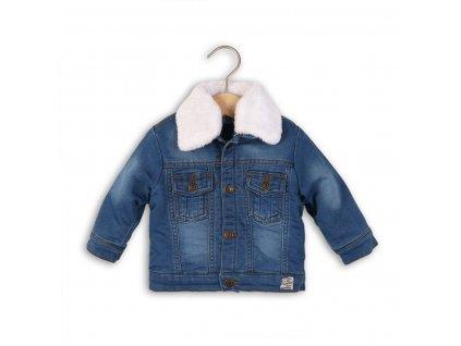 Bunda džínová vyteplená Baby modrá