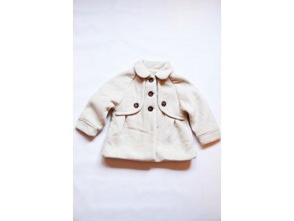 Kabát dívčí Baby krémová