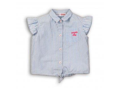 Košile dívčí na zavazování Kids modrá