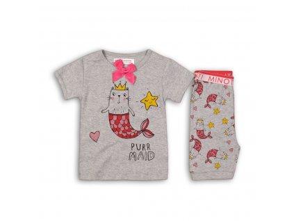 Pyžamo dívčí: kraťasy Baby šedá