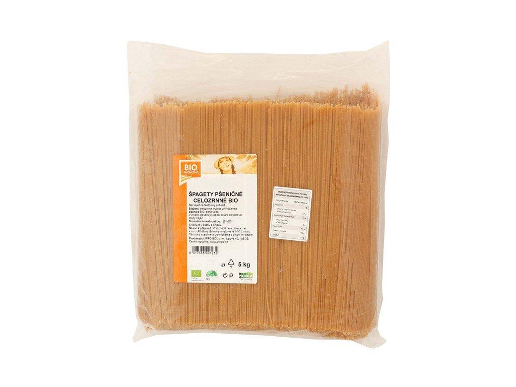5897 gastro celozrnne spagety psenicne bio 1 ks 5 kg