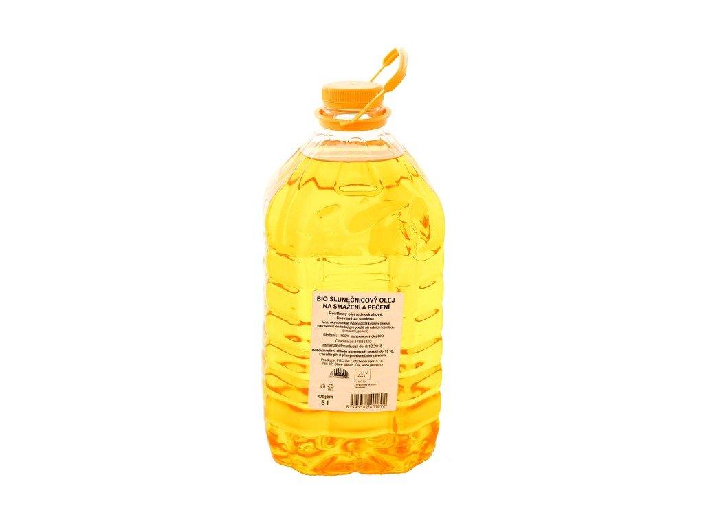 5078 gastro olej slunecnicovy na peceni a smazeni bio 1 ks 5 l