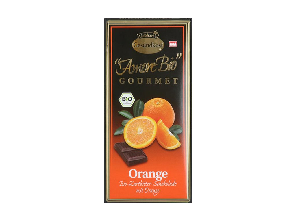 5342 horka cokolada s pomerancem liebharts bio 100 g