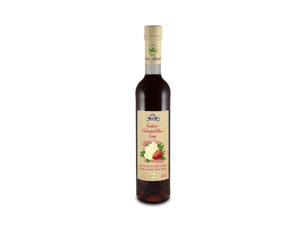 3869 sirup jahoda cerny bez holderhofbio 500 ml