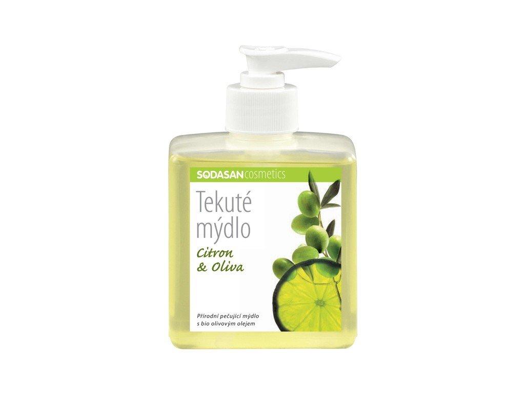 4988 tekute bio mydlo citron oliva bio 300 ml sodasan