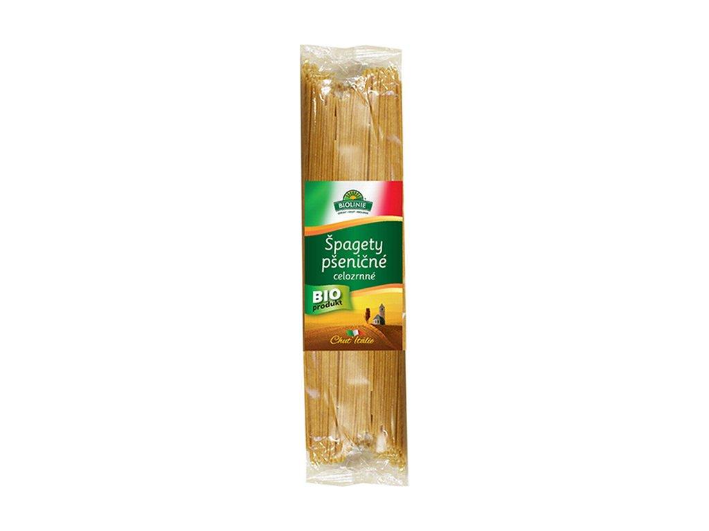 4265 biolinie spagety psenicne celozrnne bio 500 g
