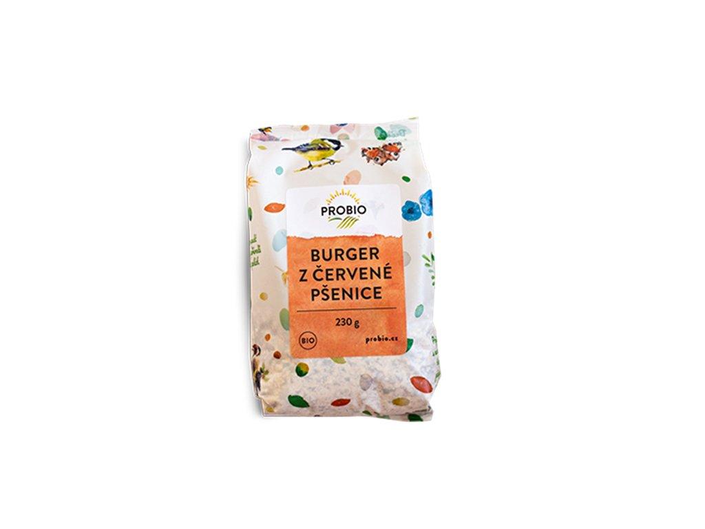 5510 burger z cervene psenice 230 g bio probio