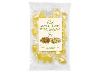 Grešík Anýz & Fenykel cukríky so sladidlom 100 g