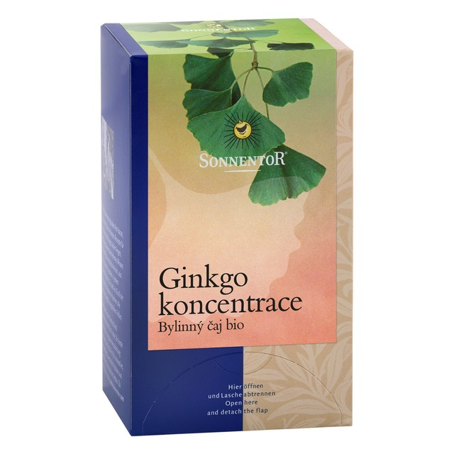 Sonnentor Čaj BIO - Ginkgo - koncentrácia 20 g prebal