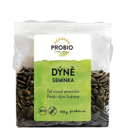 PRO-BIO obchod.spol. s r.o. Tekvicové semienka BEZLEPOK 100 g BIO PROBIO